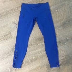 Lululemon crop leggings royal blue sz 10